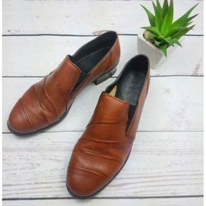 Rieker 6.5 M Leather Oxford Brown Slip On Loafer